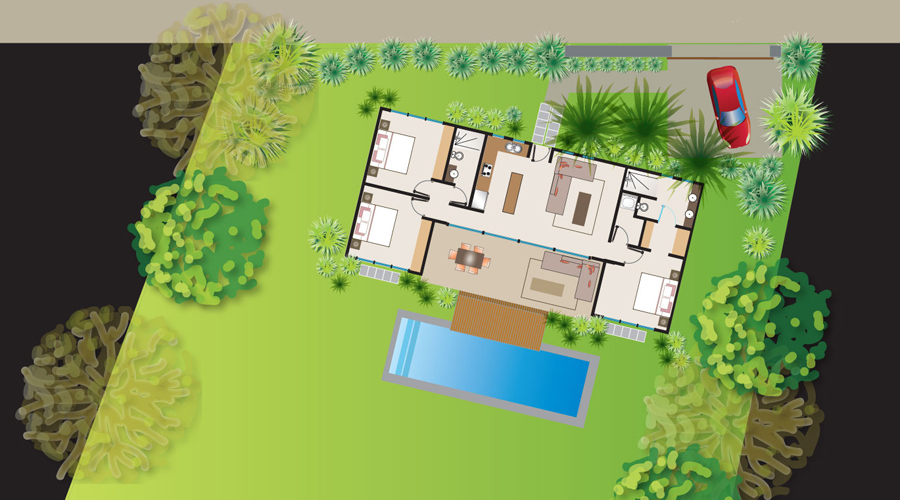 Costa rica immobilier casa perla charmante maison bois 3 for Piscine jardin tropical